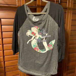Torrid Disney Ariel Little Mermaid Baseball Tee